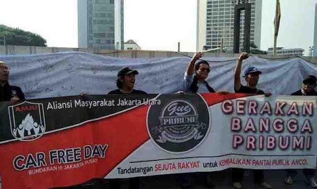 Dukung Anies, AMJU Gelar aksi 'Gerakan Bangga Pribumi'