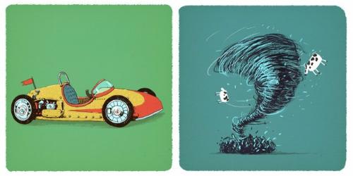 ôtô đua và vòi rồng