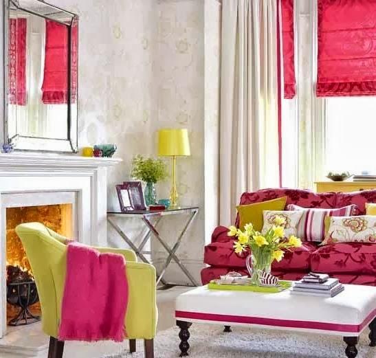 Salas con colores vivos colores en casa for Cocinas con colores vivos