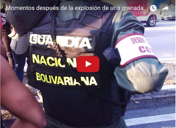 Varios heridos tras ataque con Granada a un módulo de la Guardia Nacional