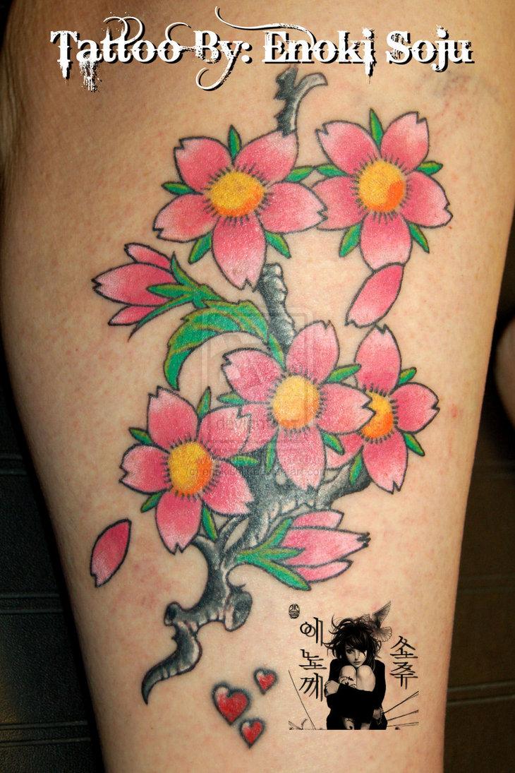 Cherry Blossom Tree Tattoo On Wrist