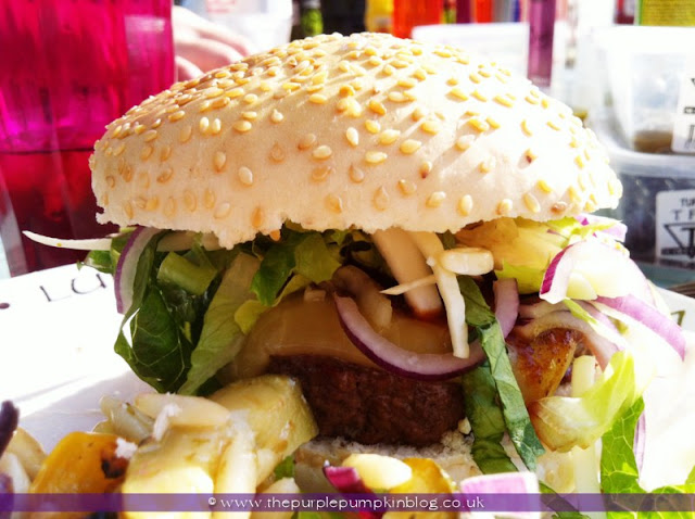 Juicy Handmade Hamburgers at The Purple Pumpkin Blog