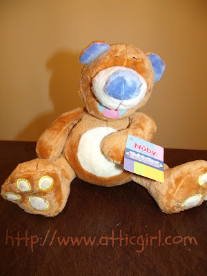 Nuby, stuffed animal, babies, toddlers, tickle toes bear