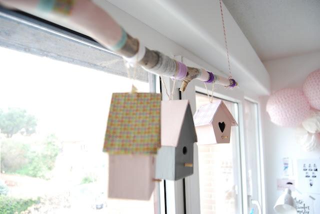 decoración con casitas de pájaros DIY