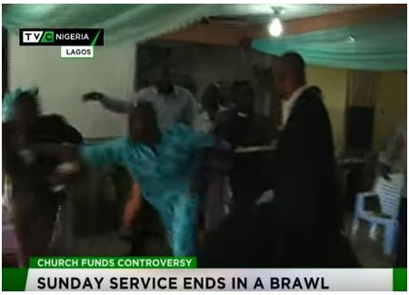 Pastor chased out during service by his members over money issue in Lagos (Photos)