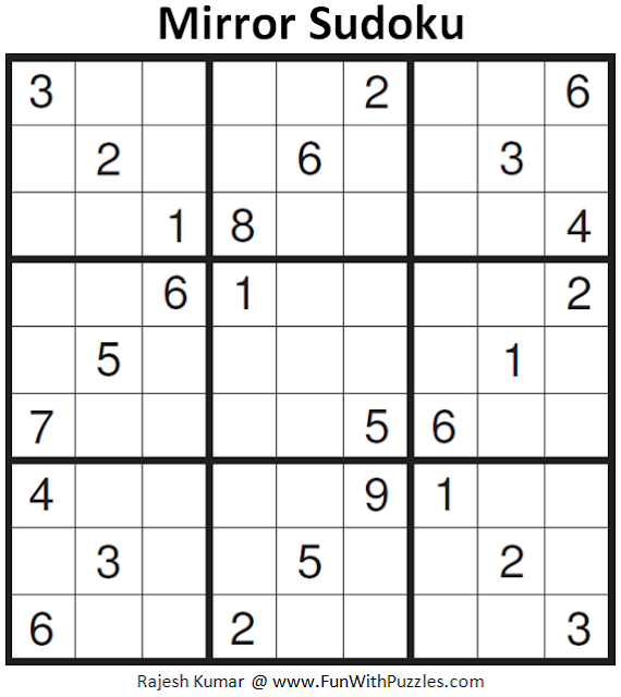 Mirror Sudoku (Fun With Sudoku #154)