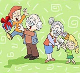 Resultado de imagen para DIBUJOS abuelos cuidadores de nietos