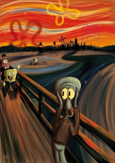 El grito de Munch - versión Bob Esponja