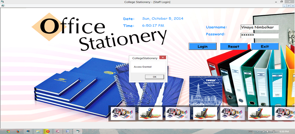 VB NET Project On College Stationery Management System - The Crazy