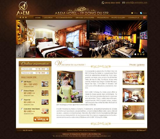 dịch vụ thiết kế website khách sạn
