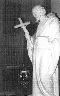 The statue of the patron saint, St. John Kanty