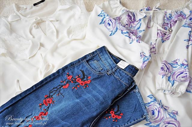 ZAFUL | moje zamówienie, biała bluzka, dżinsy i maxi sukienka.