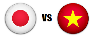 Japan versus Vietnam AFC quarterfinal match
