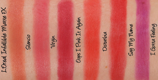 L'Oreal Infallible Matte FX Swatches & Review