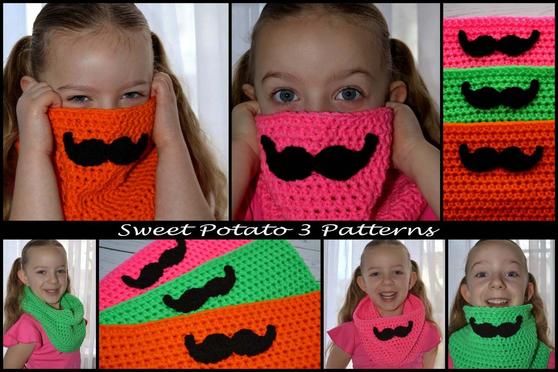 free mustache cowl pattern