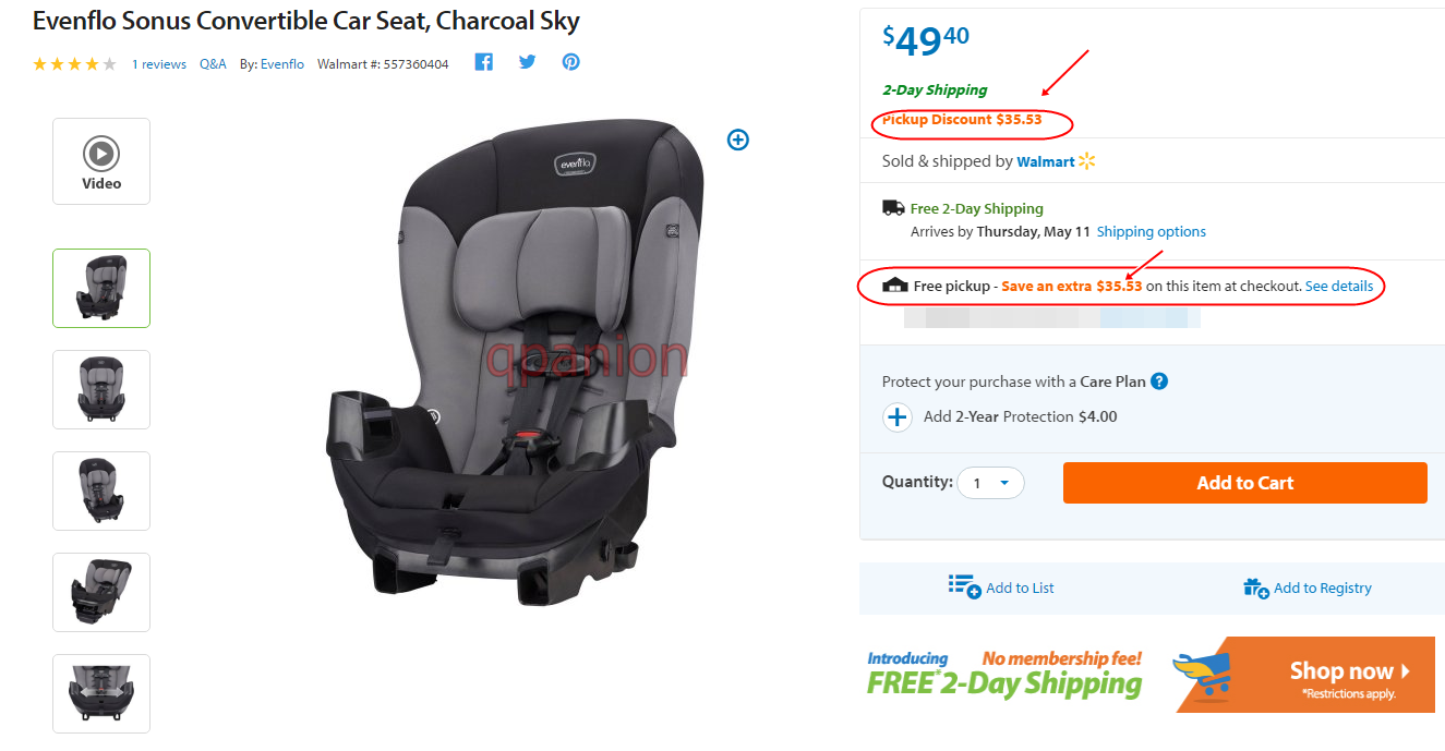 OUT OF STOCK Head Over To Walmart And Score This Evenflo Sonus Convertible Car Seat For Only 1387 Reg