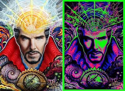 Marvel's Doctor Strange IMAX Exclusive Blacklight Theatrical One Sheet Movie Posters by Randal Roberts