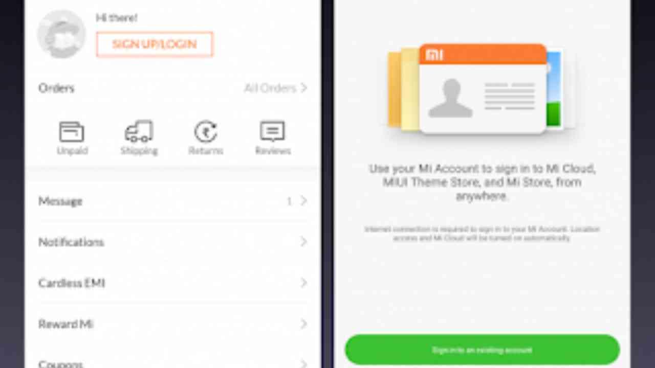 Membuat Mi Account dari Mi Store App