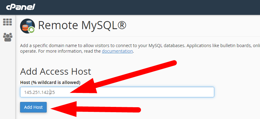 How to allow remote database connection from any other