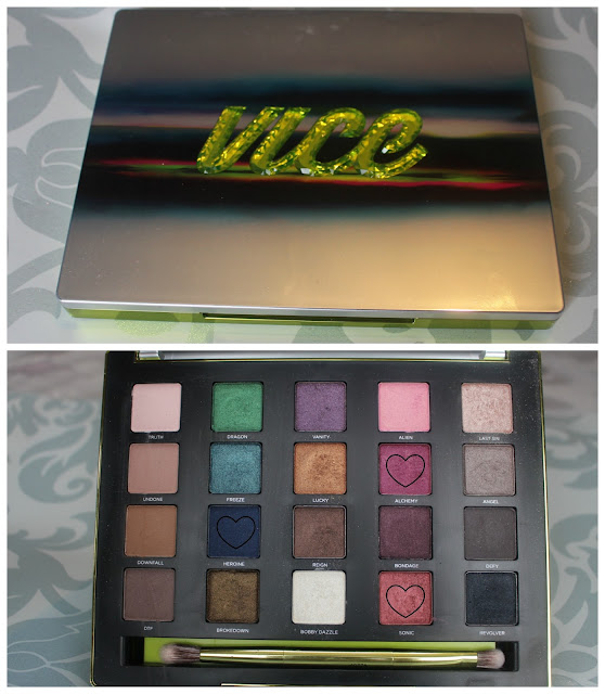 Photos of the shadows inside the Urban Decay Vice 3 Palette