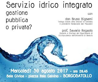 acqua pubblica, brescia, borgosatollo, referendum