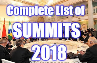 International Summits and Conferences 2018