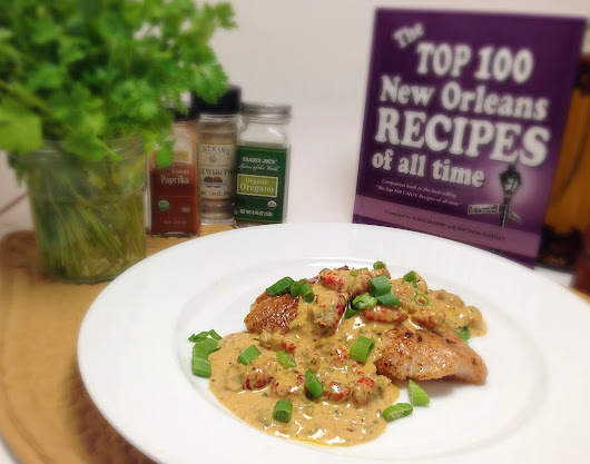 Blackened Red Snapper with Crawfish Cream Sauce
