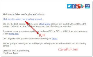 Cara Mendaftar di Eobot Untuk Mendapatkan 20 Jenis Kriptokoin Gratis 2017