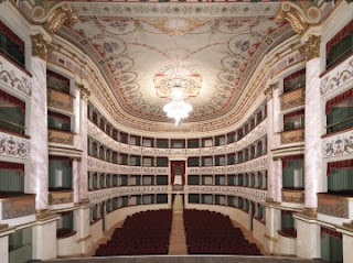 The Teatro dei Rinnovati, reopened in 1950, is the most famous of several theatres in the city of Siena