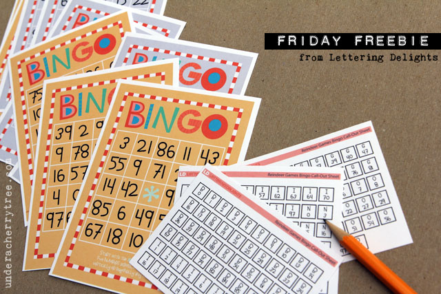 Under A Cherry Tree  LD Friday Freebie  Reindeer Games Bingo Cards     The Reindeer Games Bingo Cards coordinates with LD s new Reindeer Games  Collection and is available as a free download from Lettering Delights only  for