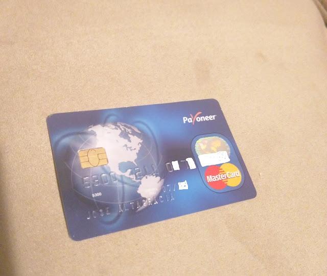 tarjeta payoneer para utilizar fondos disponibles