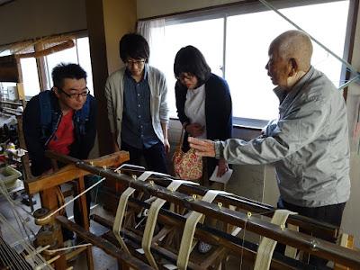 加藤改石手織牛首紬は染める前に下処理が必要