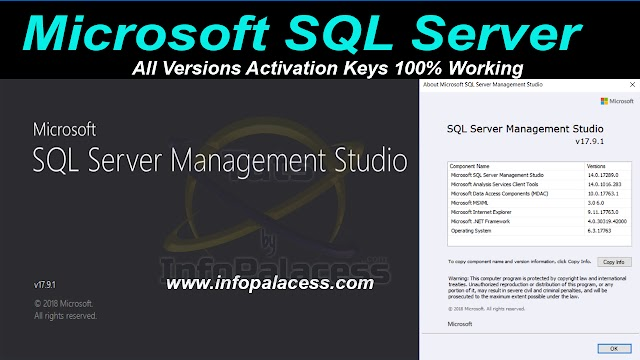 Microsoft SQL Server All Versions Activation Keys 100% Working