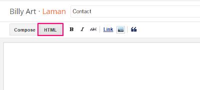 Mode HTML Pada Laman Blog