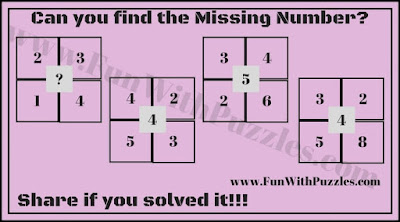 Numbers Brainteaser for Kids to find the missing number