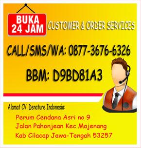 Customer service denature: 0877-3676-6326 telkomsel: 0813-9000-3017 bbm: d9bd81a3