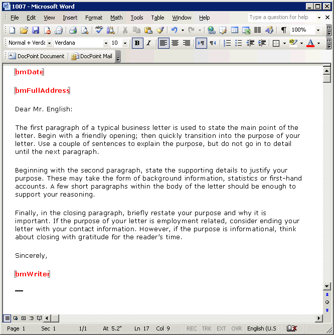 Business Email Format - Slim Image