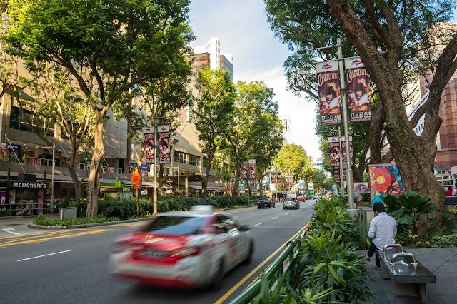 singapur, barvy, budovy, cestování, svět, orchard road, singapore
