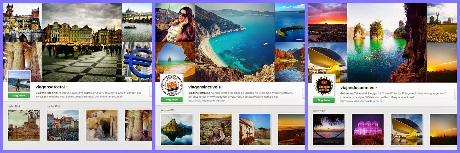 Perfis de instagram recomendados