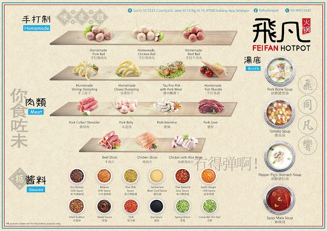 FEI FAN HOT POT SUBANG JAYA Menu