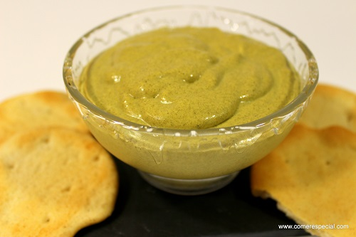 Crema de mejillones y queso sin lactosa