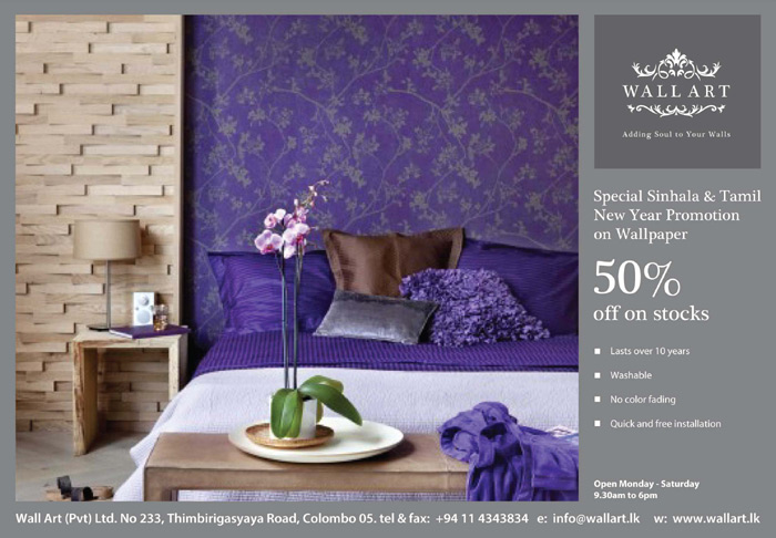 WallArt | Special Offer on Wallpaper for the Avurudhu Season