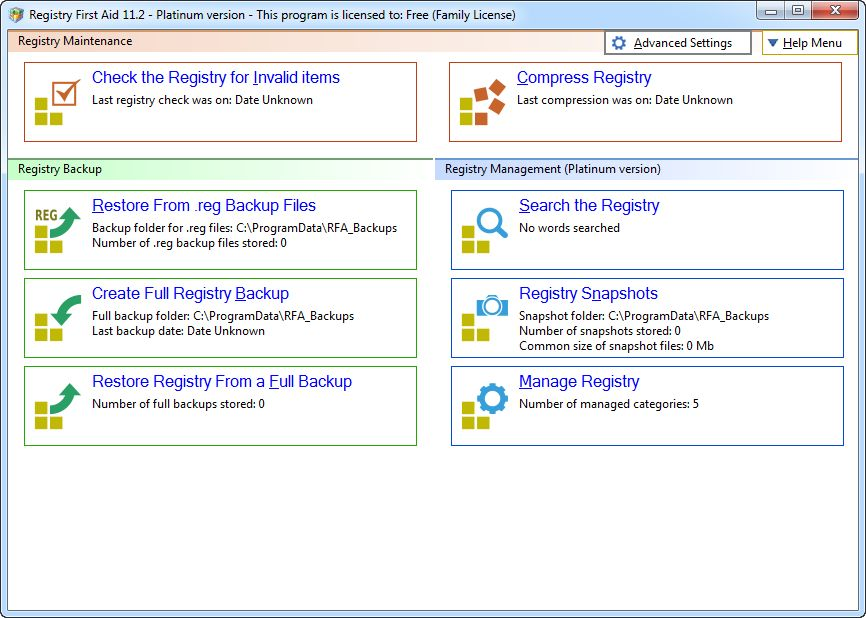 Registry First Aid Platinum v11.2.0 Build 2542 Full version