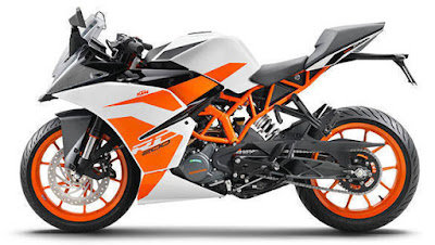New 2017 KTM RC 200 side angle image