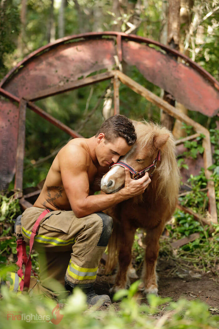 Firefighters Pose With Adorable Animals For 2019 Charity Calendar And The Pictures Are Hot!