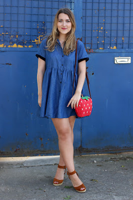 Lazy Oaf denim baby dress