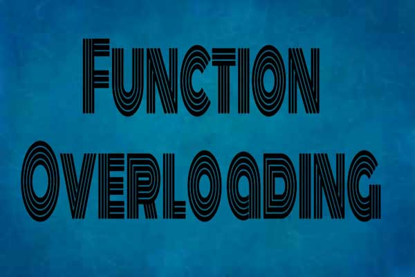 function overloading in c++ programming, c++ programming