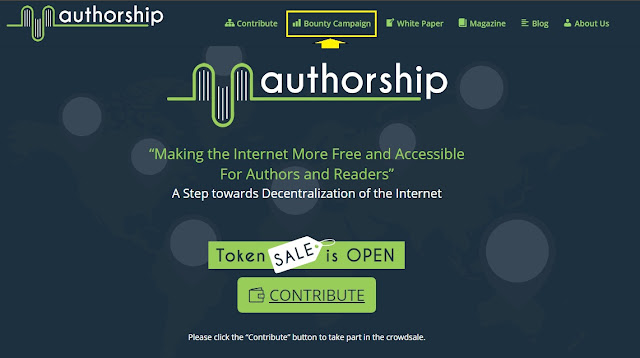 authorship.com homepage