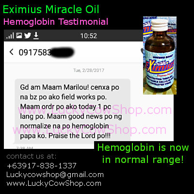eximius oil review hemoglobin