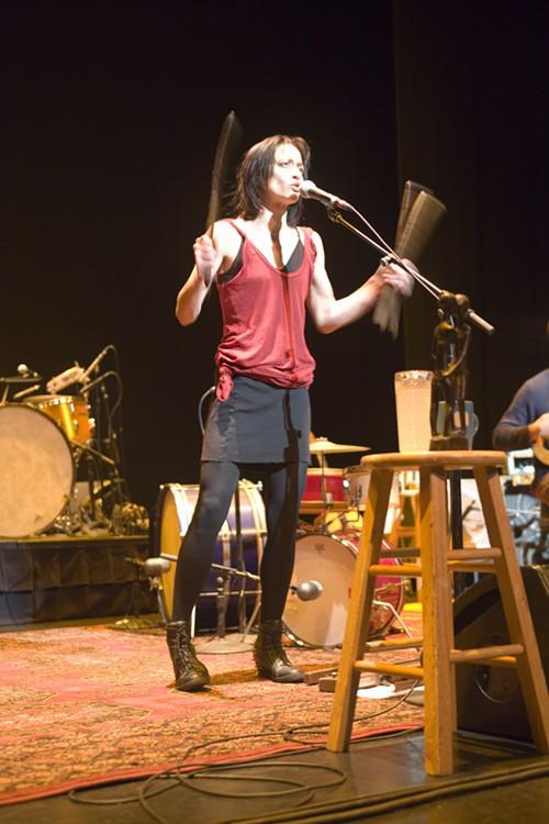 Fiona Apple en el concierto de Portland, donde fue insultada por una fan